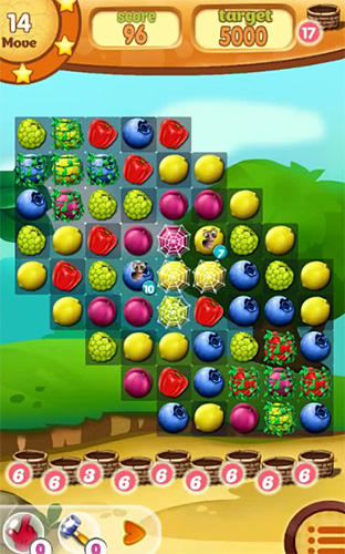 Fruit hamsters: Farm of hamsters. Match 3 game für Android