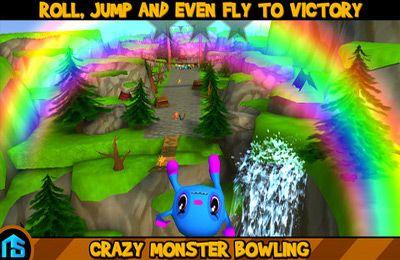 Le Bowling avec les Monstres Fous pour iPhone