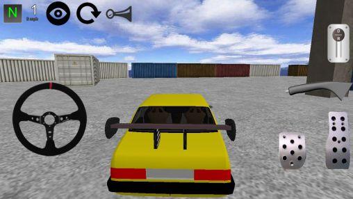 Simulator-Spiele Car drift 3D 2014 für das Smartphone