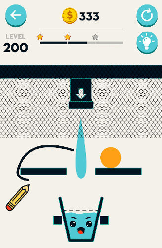 Fill the glass: Drawing puzzles for Android