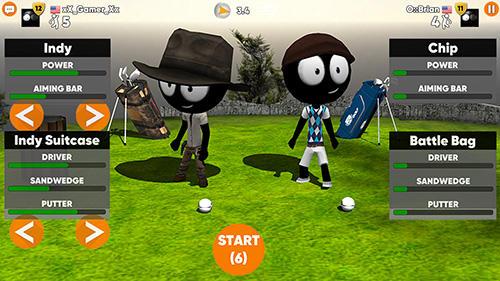 Sport Stickman cross golf battle für das Smartphone