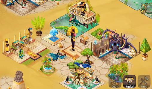 Simulation Age of pyramids: Ancient Egypt für das Smartphone