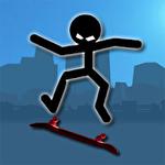 Stickman skate icono