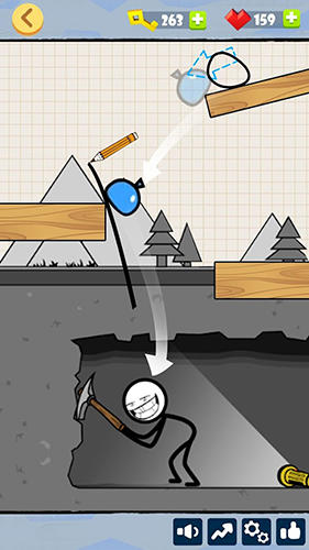 Stickman games Bad luck stickman: Addictive draw line casual game in English
