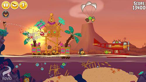 Arcade-Spiele: Lade Angry Birds Seasons: Tropisches Paradies auf dein Handy herunter