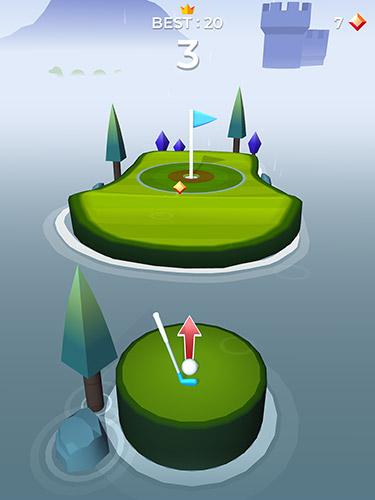 Arcade-Spiele Pop shot! Golf für das Smartphone