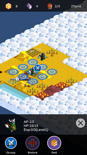 Kingdoms arena: Turn-based strategy game für Android
