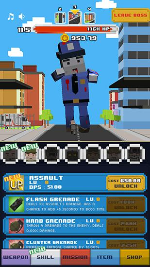 Arcade Tap zombies: Heroes of war für das Smartphone
