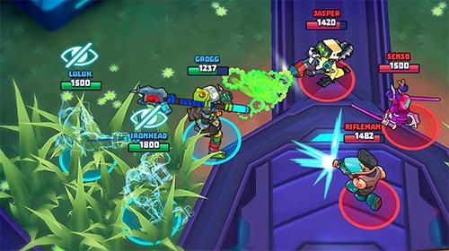 MOBA-Spiele Space Brawls: 3v3 battle arena auf Deutsch