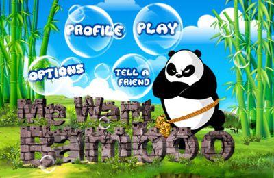 logo Ich will Bambus - Werden sie ein Meister-Panda
