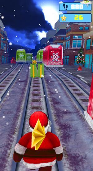 Santa runner: Xmas subway surf para Android