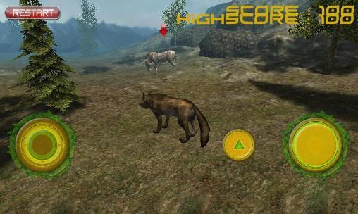 Simulator-Spiele Real wolf simulator für das Smartphone