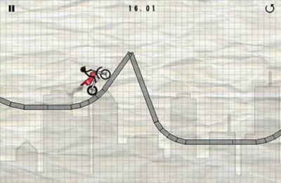 Screenshot Strichmännchen Motorradsfahrt auf dem iPhone