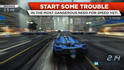 Carreras Need for Speed: Most Wanted para teléfono inteligente