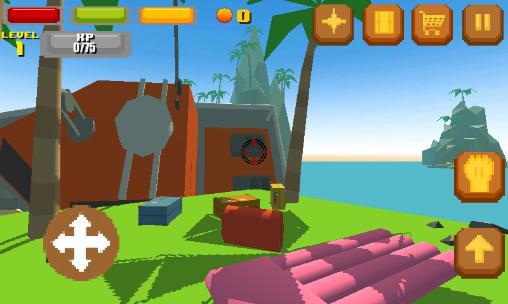 Actionspiele Pixel island survival 3D für das Smartphone