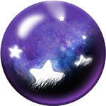Classic ball and the night of falling stars Symbol