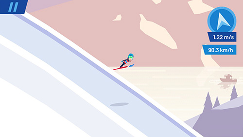 Sportspiele Ski jump challenge für das Smartphone