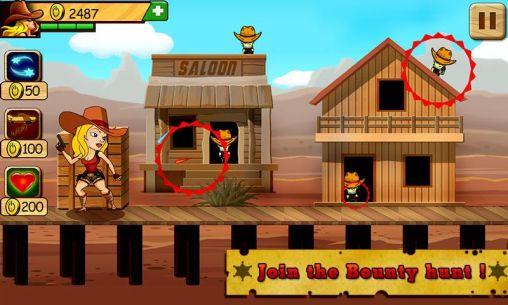 Arcade games Bounty hunter: Miss Jane for smartphone