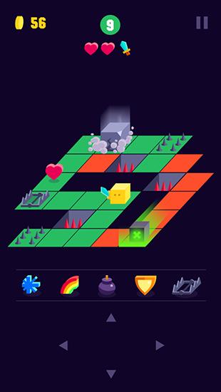 Arcade-Spiele Crossy maze für das Smartphone