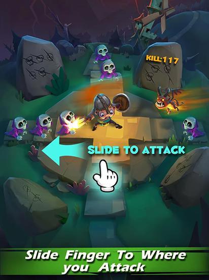 Arcade-Spiele Skeleton attack für das Smartphone
