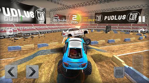 Monster truck race auf Deutsch