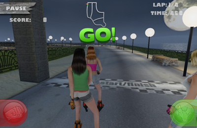 Screenshot Skatergirls auf dem iPhone