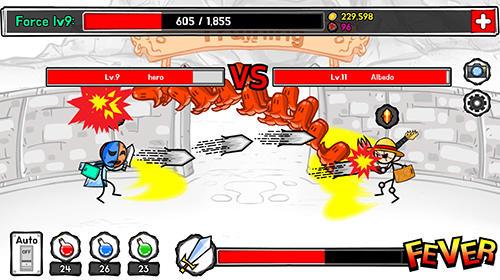 Arcade-Spiele Stickman hero tap tap für das Smartphone
