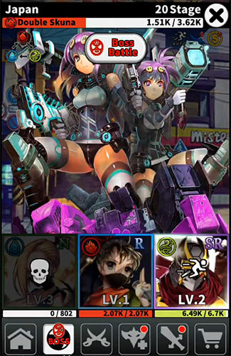 Kartenspiele Villain rush auf Deutsch
