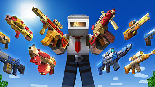 Action Craft shooter online: Guns of pixel shooting games für das Smartphone
