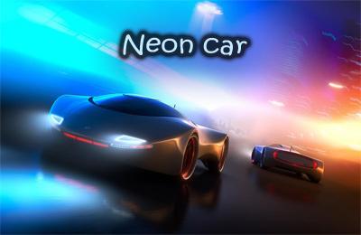 логотип Неоновый автомобиль