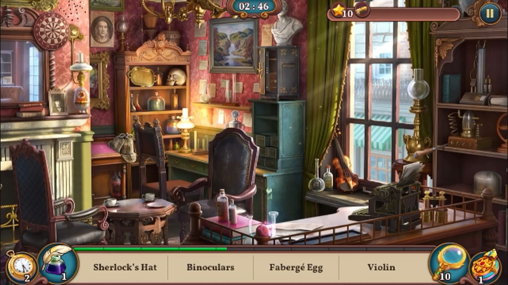 Sherlock: Hidden Match-3 Cases скриншот 3