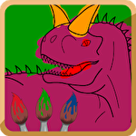 Dino paint icon