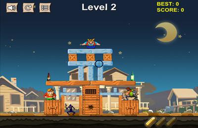 Arcade-Spiele: Lade Cowboy Pixel Turm - Wirf sie runter und zerstöre den Turm! auf dein Handy herunter