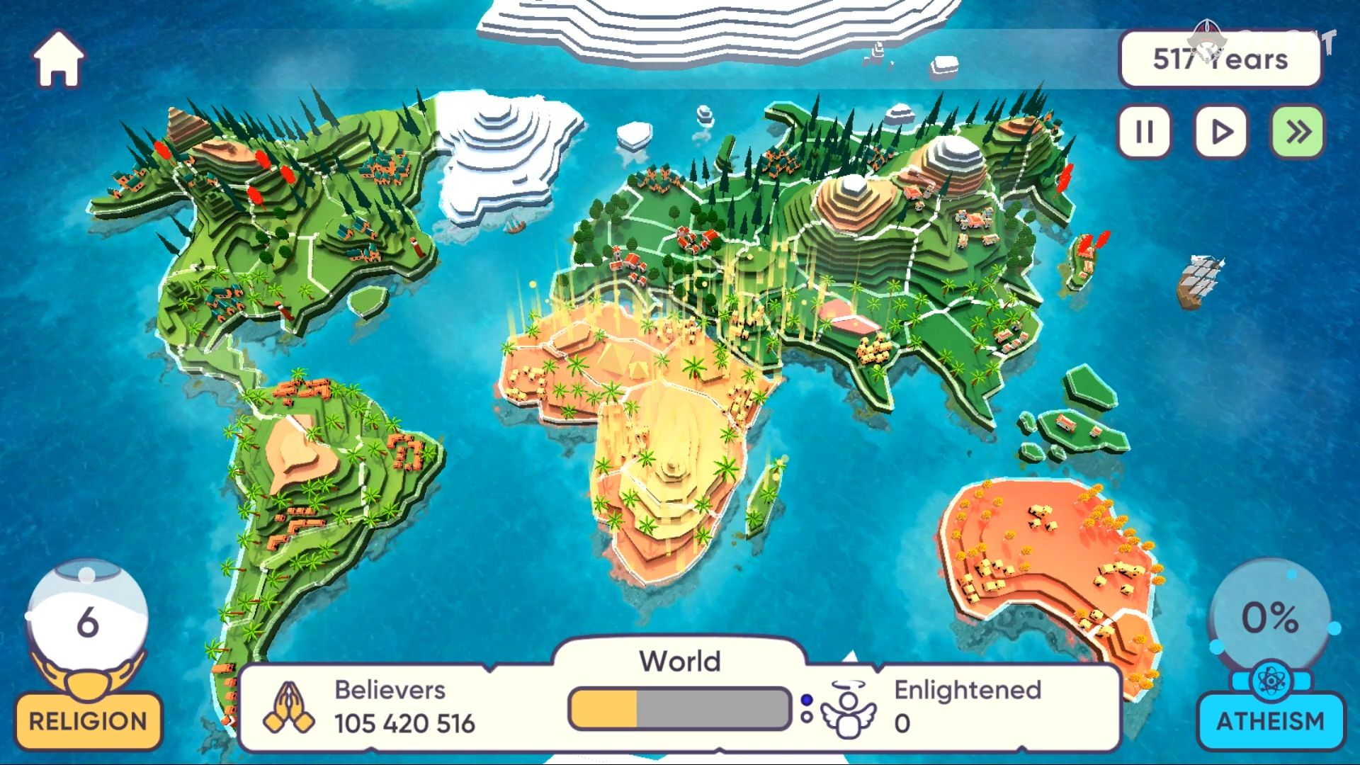 Religion inc. God Simulator & Sandbox World Create para Android