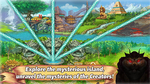 Farmspiele Farm tribe online: Floating Island auf Deutsch