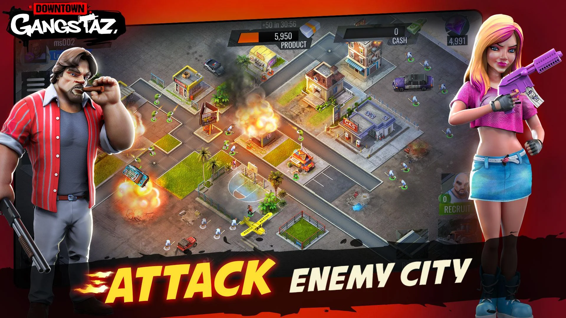 Downtown Gangstaz pour Android