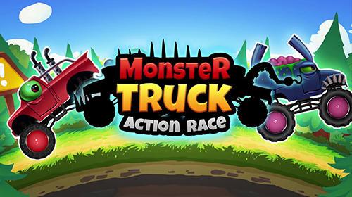 Monster trucks action race Symbol
