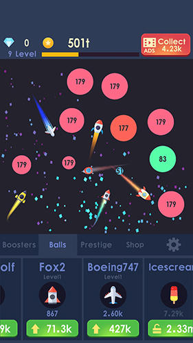 Idle rocket: Aircraft evolution and space battle Screenshot