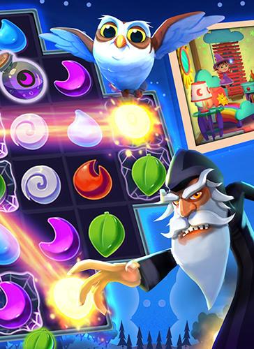 Trois en ligne Beswitched magic puzzle match en français