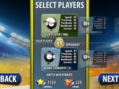 Screenshot Strichmännchen Tennis 2015 auf dem iPhone