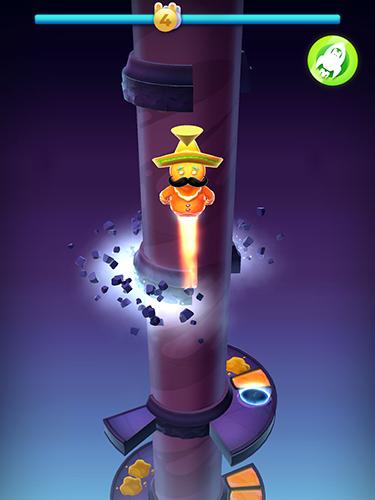 Arcade Wacky stars: Multiplayer spiral jump arcade für das Smartphone