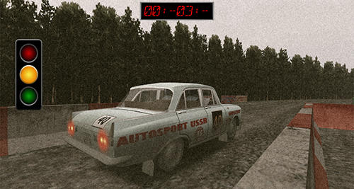 Racing games Soviet rally for smartphone