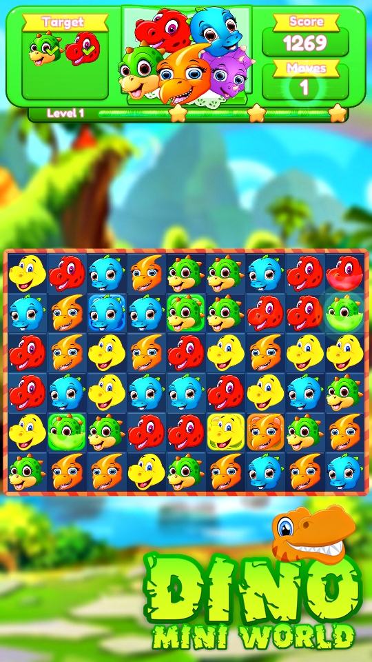 Dino Match3 Surprise World pour Android