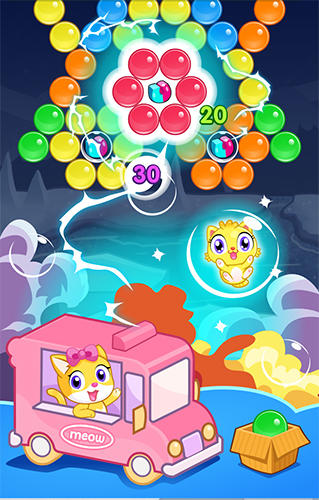 Blasen Meow pop: Kitty bubble puzzle auf Deutsch