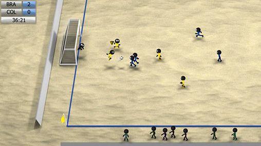 Screenshot Strichmännchen Fußball 2014 auf dem iPhone