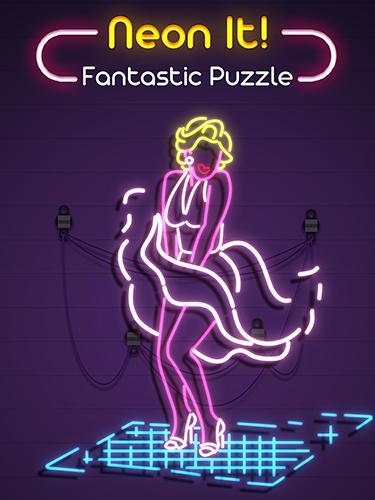 Neon it! 3D light art puzzle captura de pantalla 1