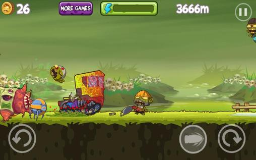 Arcade Mad zombies: Road racer for smartphone