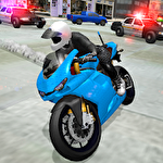 Stunt bike racing simulator Symbol