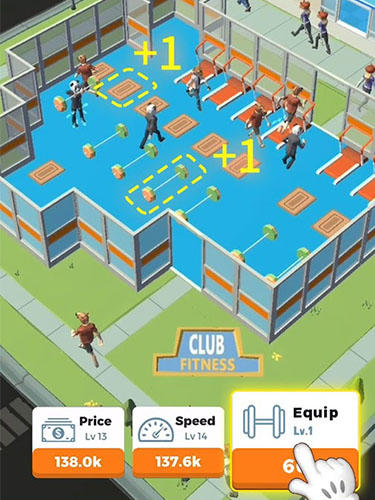 Idle gym: Fitness simulation game para Android