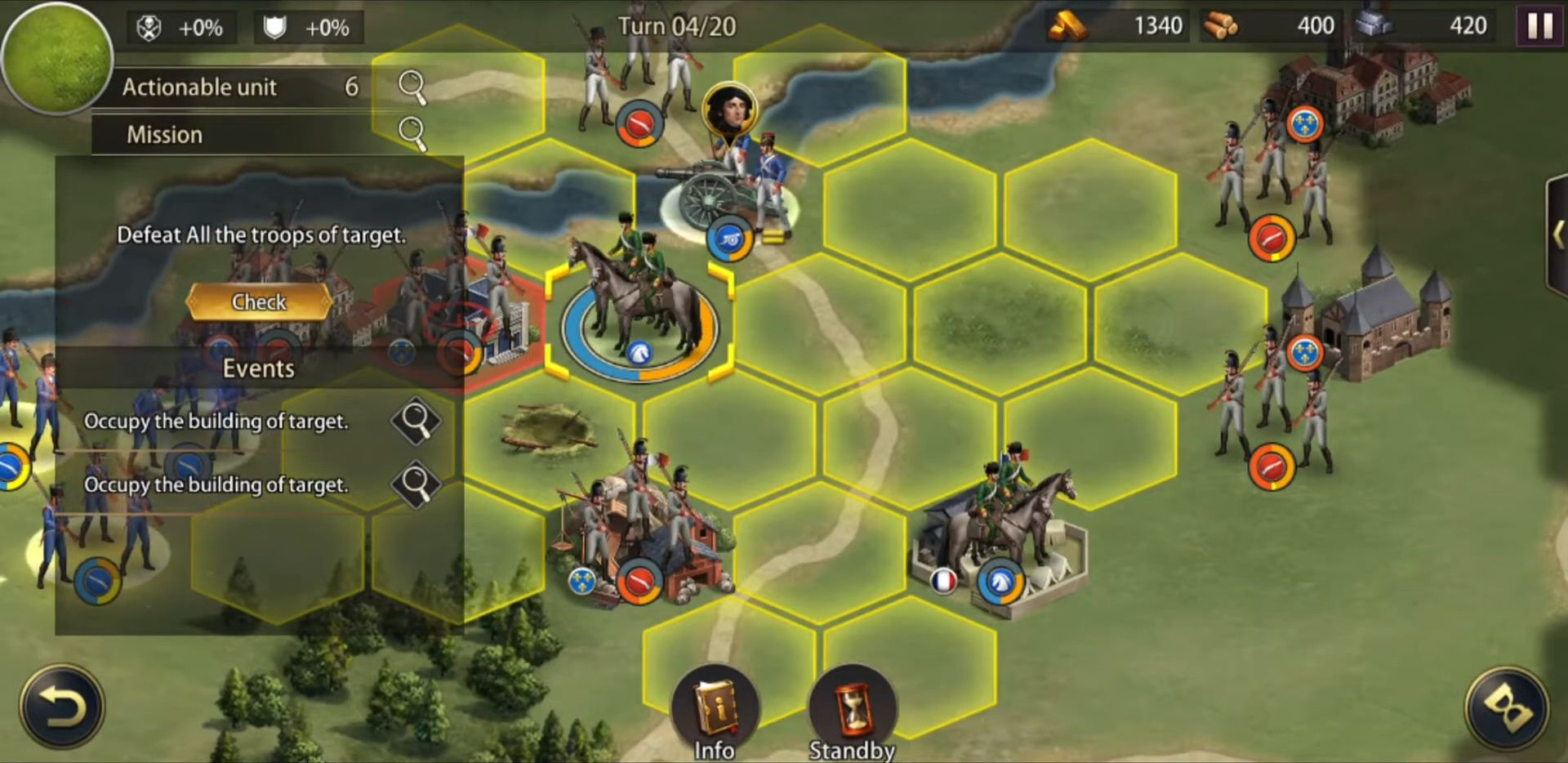 Grand War: Napoleon, War & Strategy Games pour Android